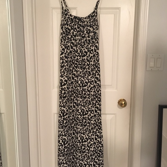 H&M Dresses & Skirts - Cotton Leopard Maxi Dress